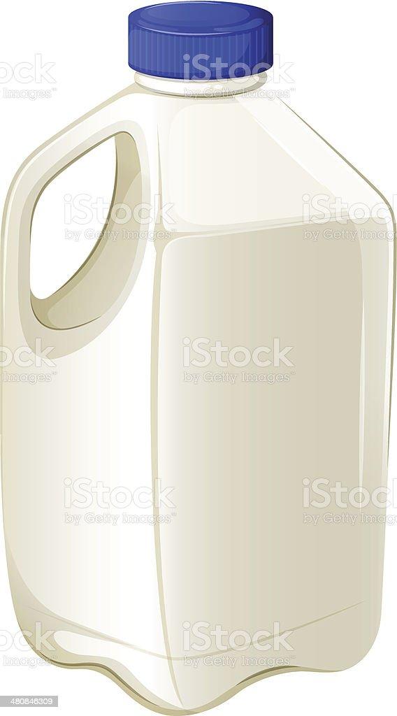 Bottle of milk vector art illustration