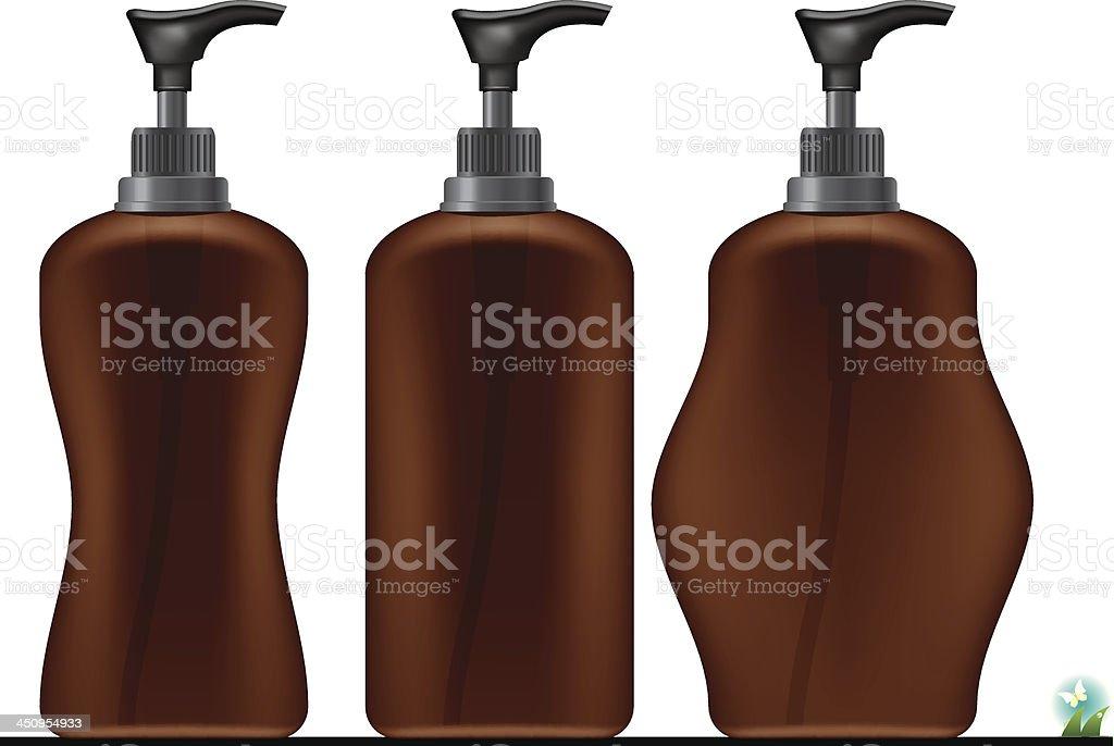 Bottle of moisturizer royalty-free stock vector art