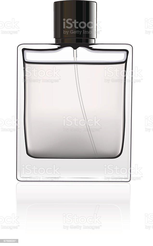 Bottle of perfume isolated over a white background. vector art illustration