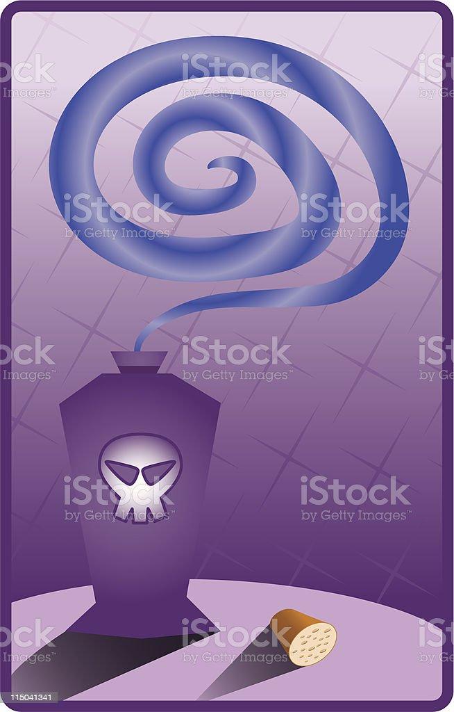 Bottle of Poison royalty-free stock vector art