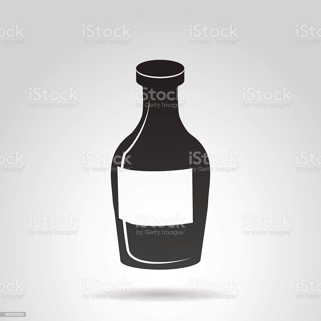 Bottle of rum icon. vector art illustration