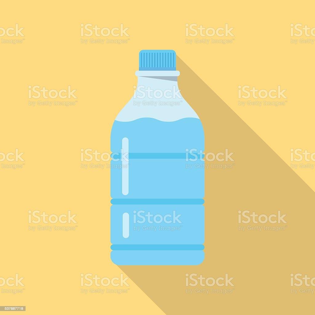 bottle of water vector art illustration