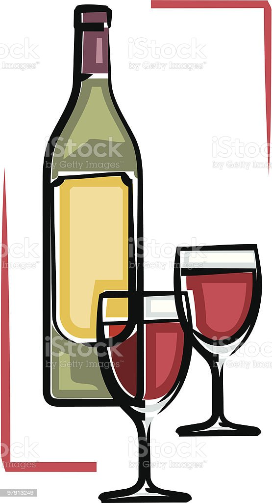 Bottle of wine vector illustration vector art illustration