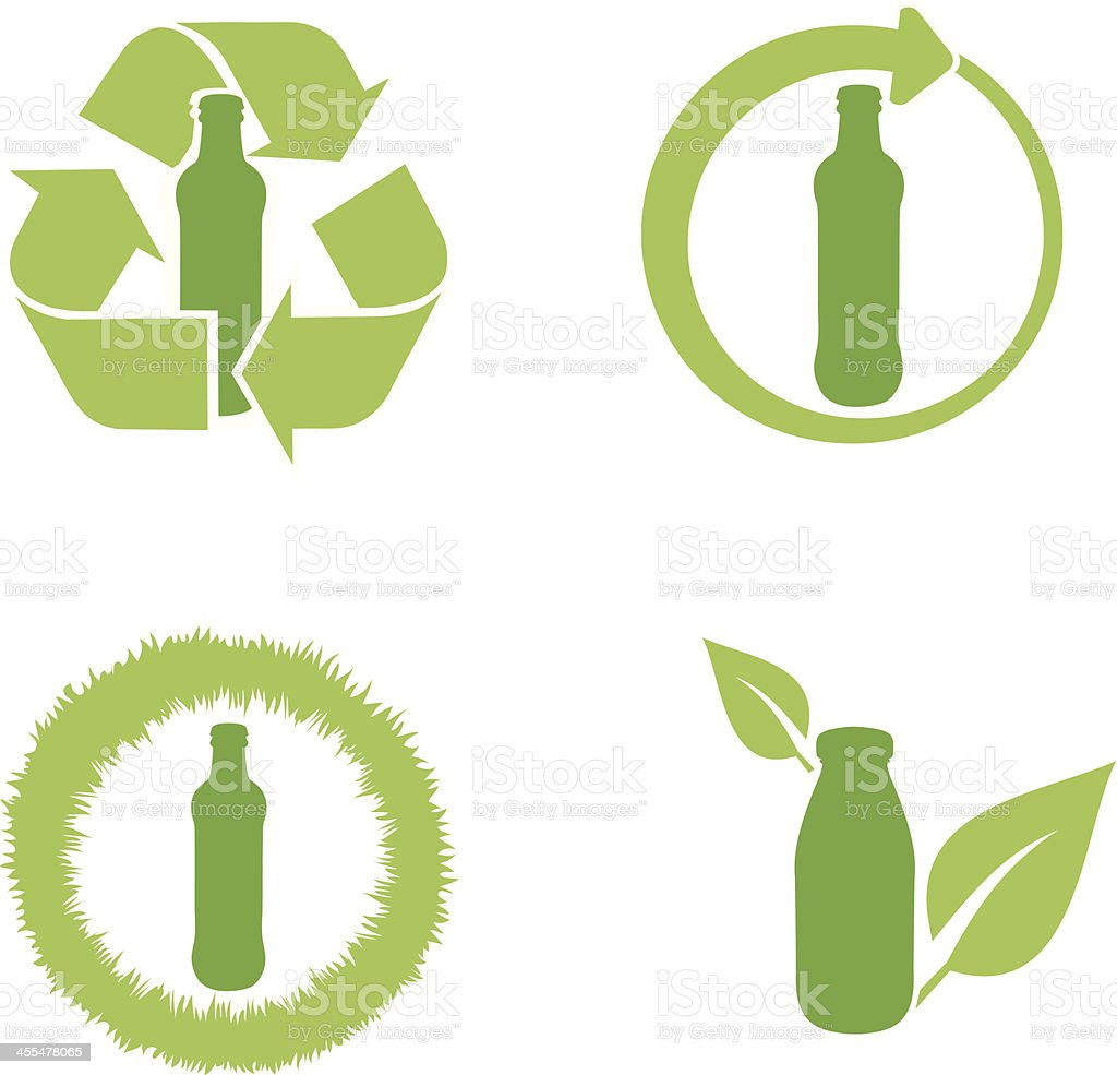 Bottle Recycling royalty-free stock vector art