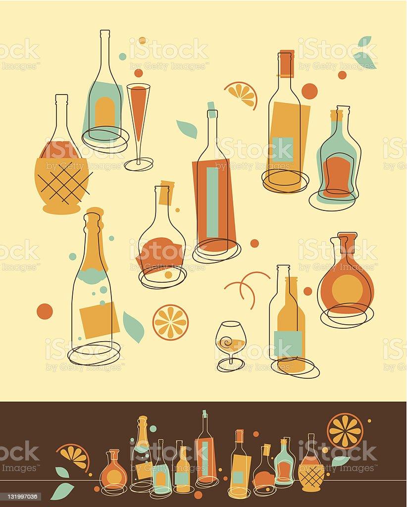 Bottle Set royalty-free stock vector art