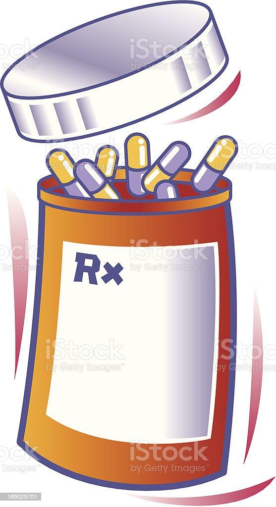 RX Bottle vector art illustration