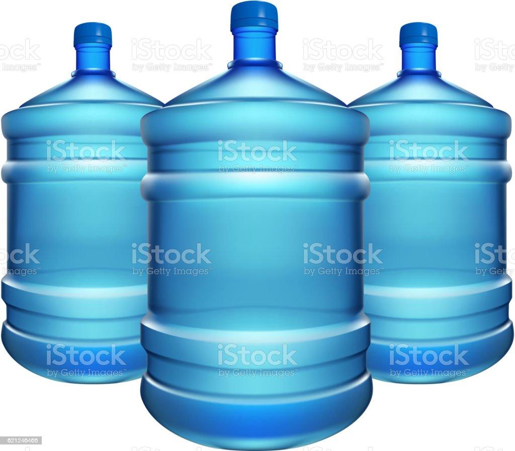 bottle water big 03 vector art illustration