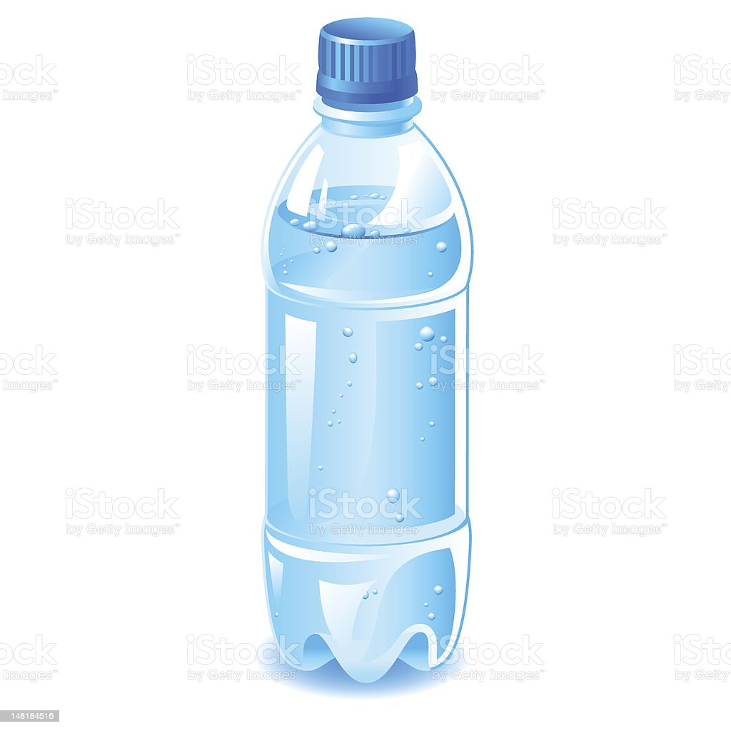 bottle water vector art illustration