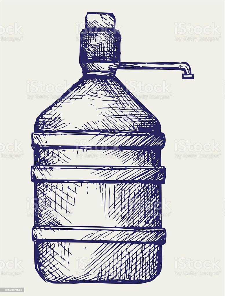 Bottle water royalty-free stock vector art