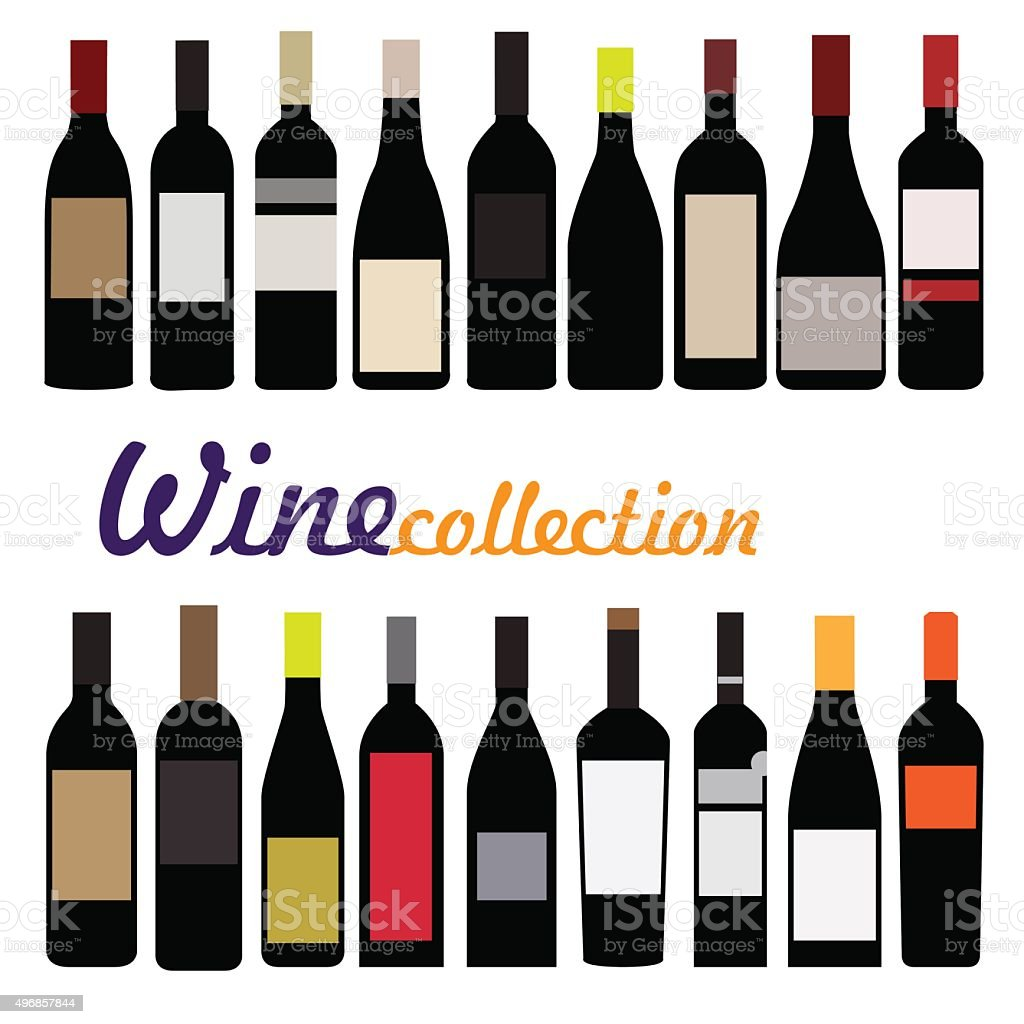 bottle wine vector vector art illustration