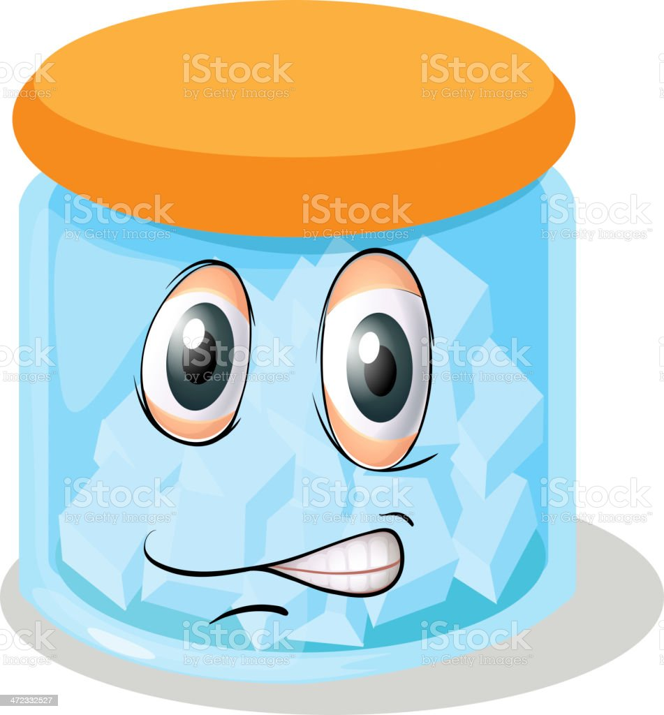 Bottle with face royalty-free stock vector art