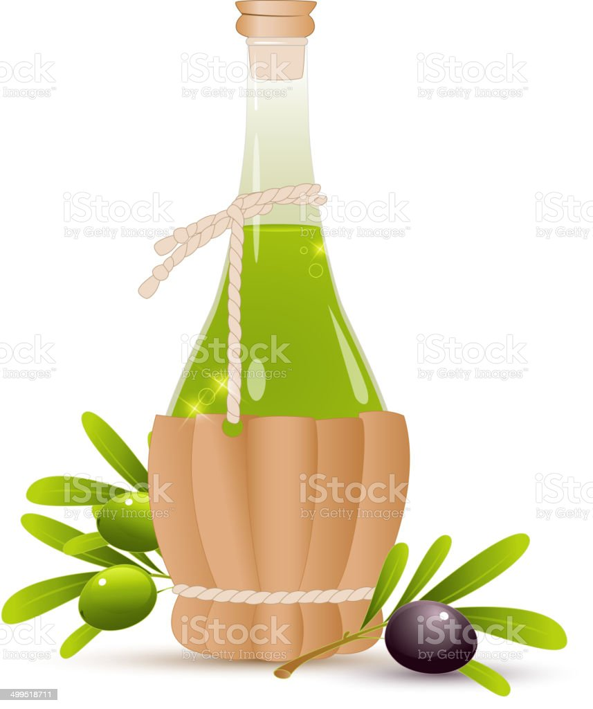 Bottle with olive oil royalty-free stock vector art
