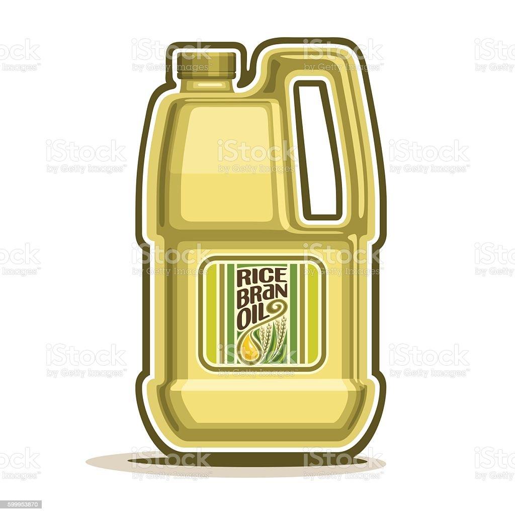 Bottle with Rice Bran Oil vector art illustration