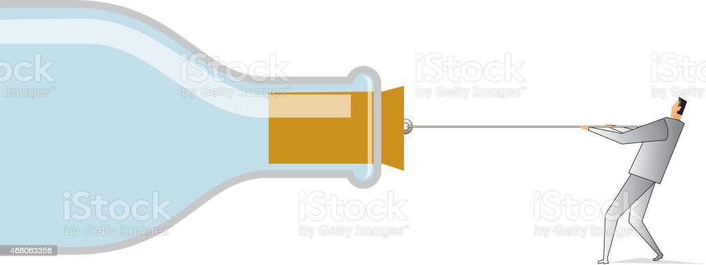 Bottleneck vector art illustration