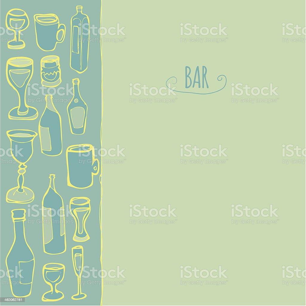 bottles and glasses royalty-free stock vector art