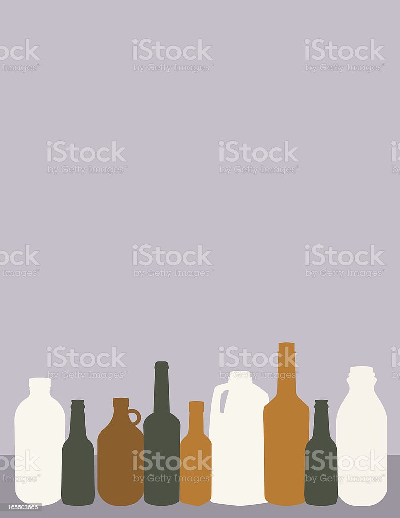 Bottles for Recycling royalty-free stock vector art