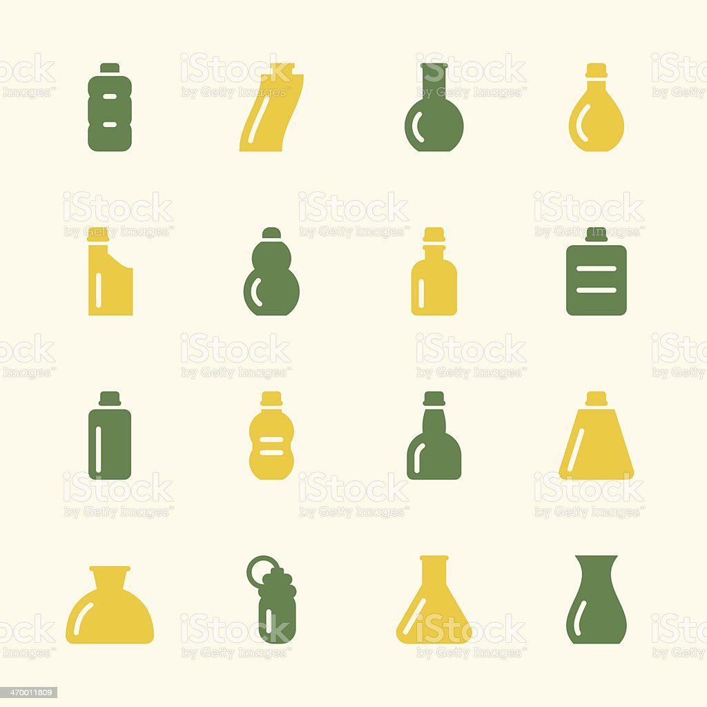 Bottles Icons Set 3 - Color Series royalty-free stock vector art
