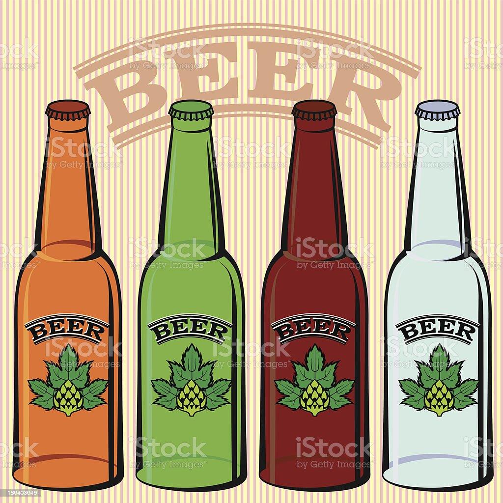 bottles of beer royalty-free stock vector art