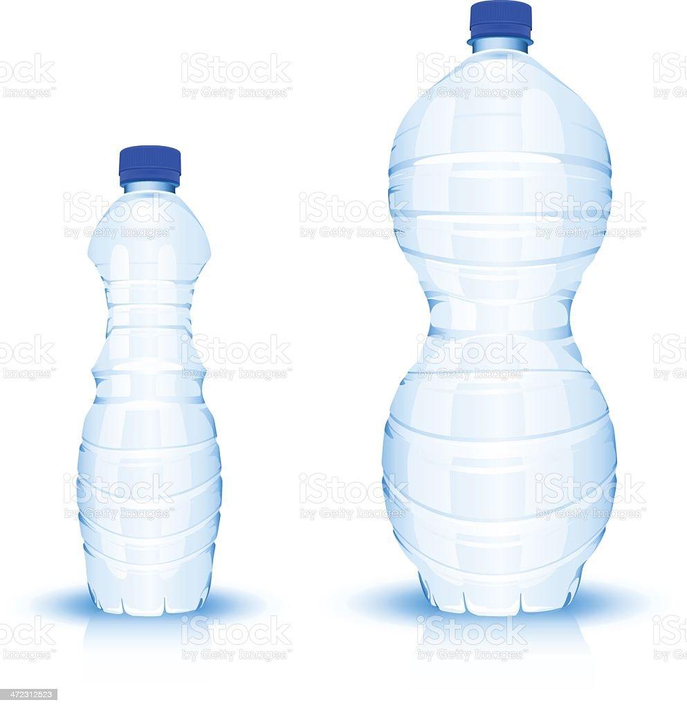 Bottles of water royalty-free stock vector art