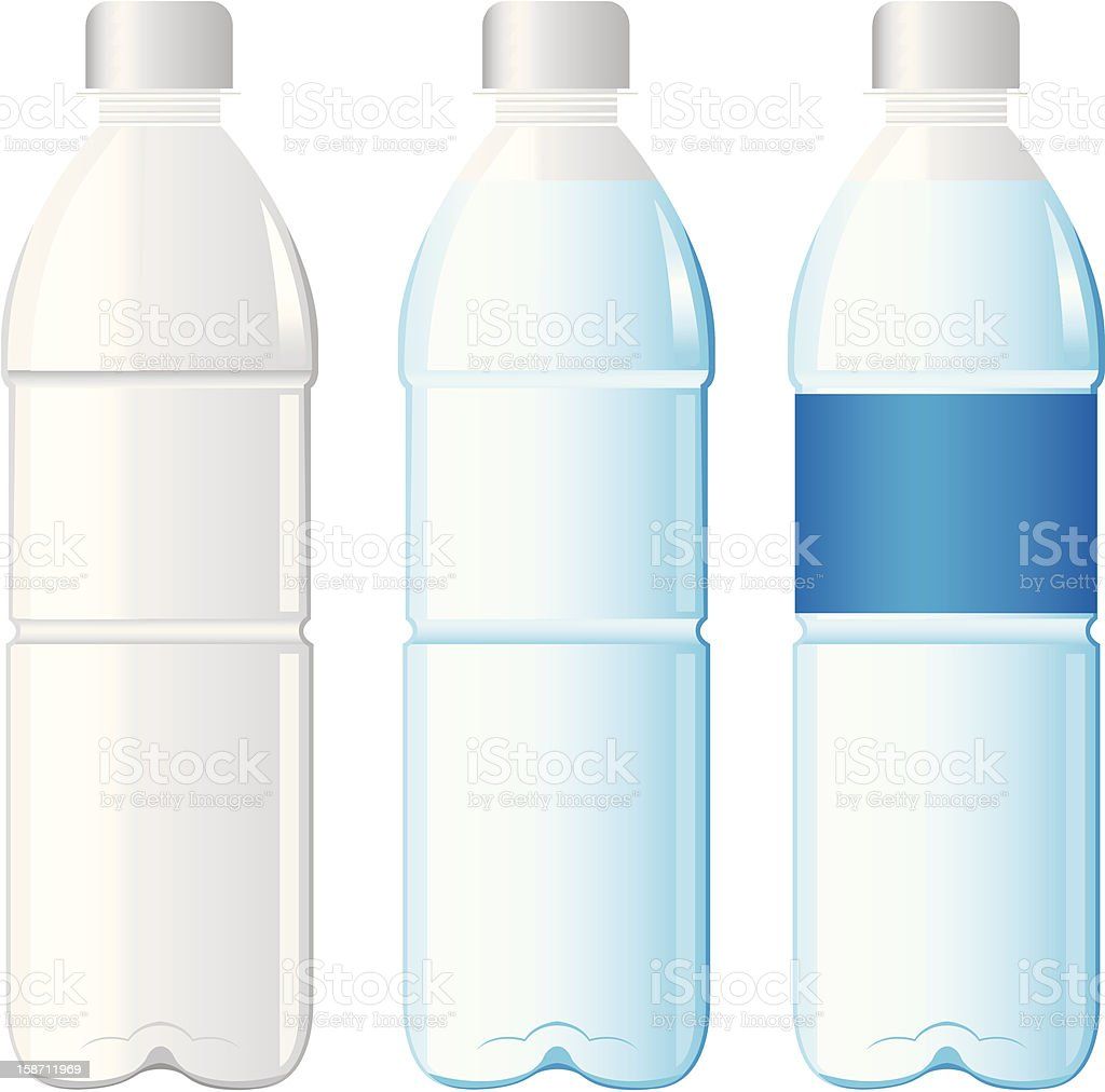 bottles of water Vector vector art illustration