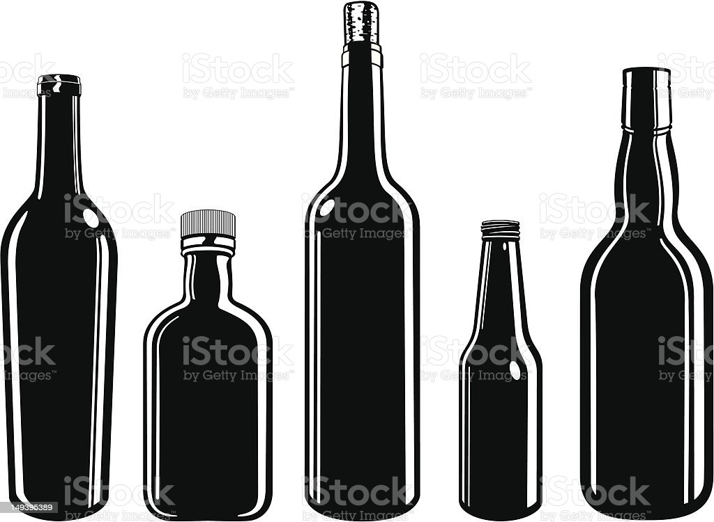 Bottles! royalty-free stock vector art