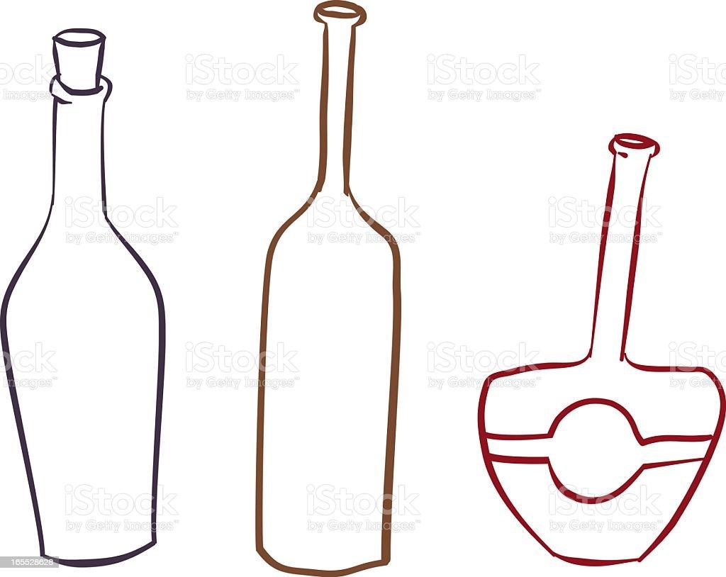 bottles vector art illustration