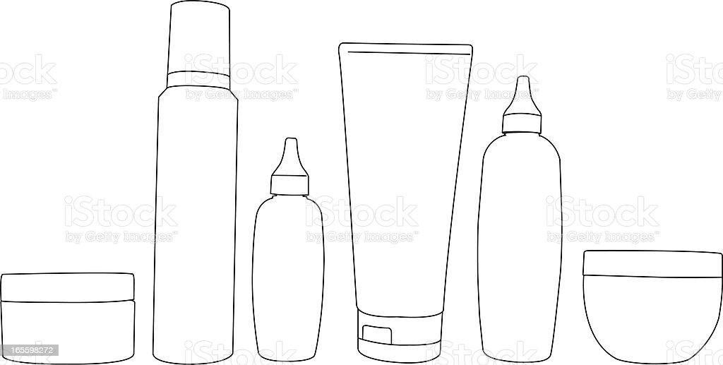 Bottles royalty-free stock vector art