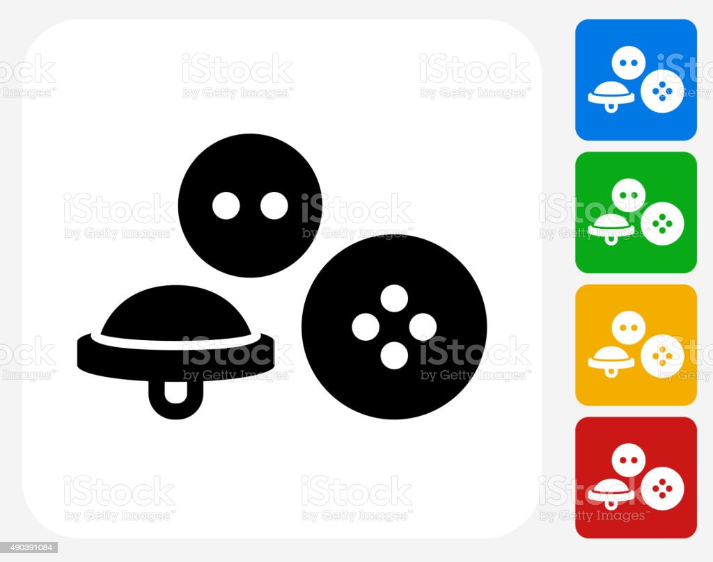 Bottoms Icon Flat Graphic Design vector art illustration