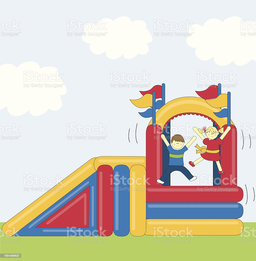 Bounce House vector art illustration