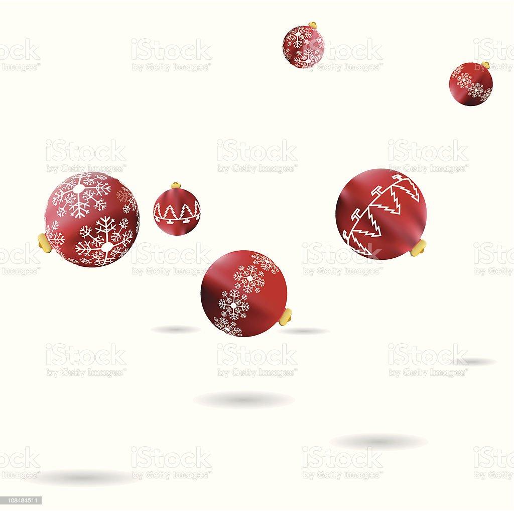 Bouncing baubles vector art illustration