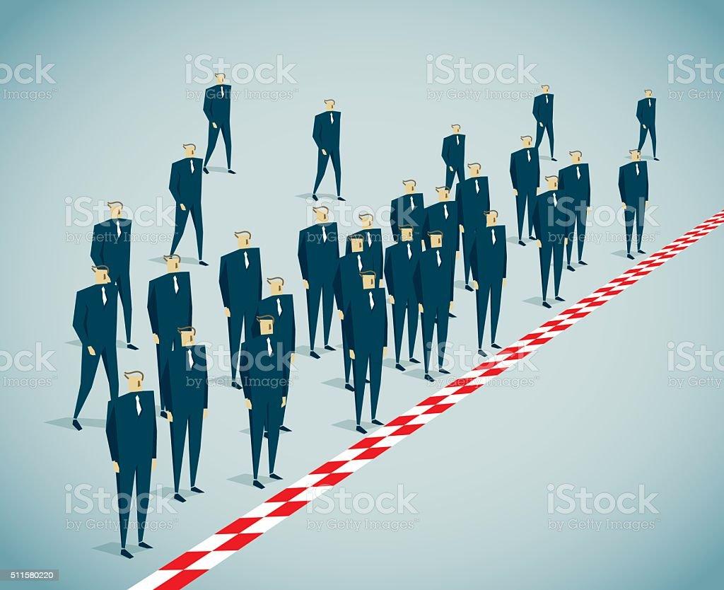 Boundary vector art illustration