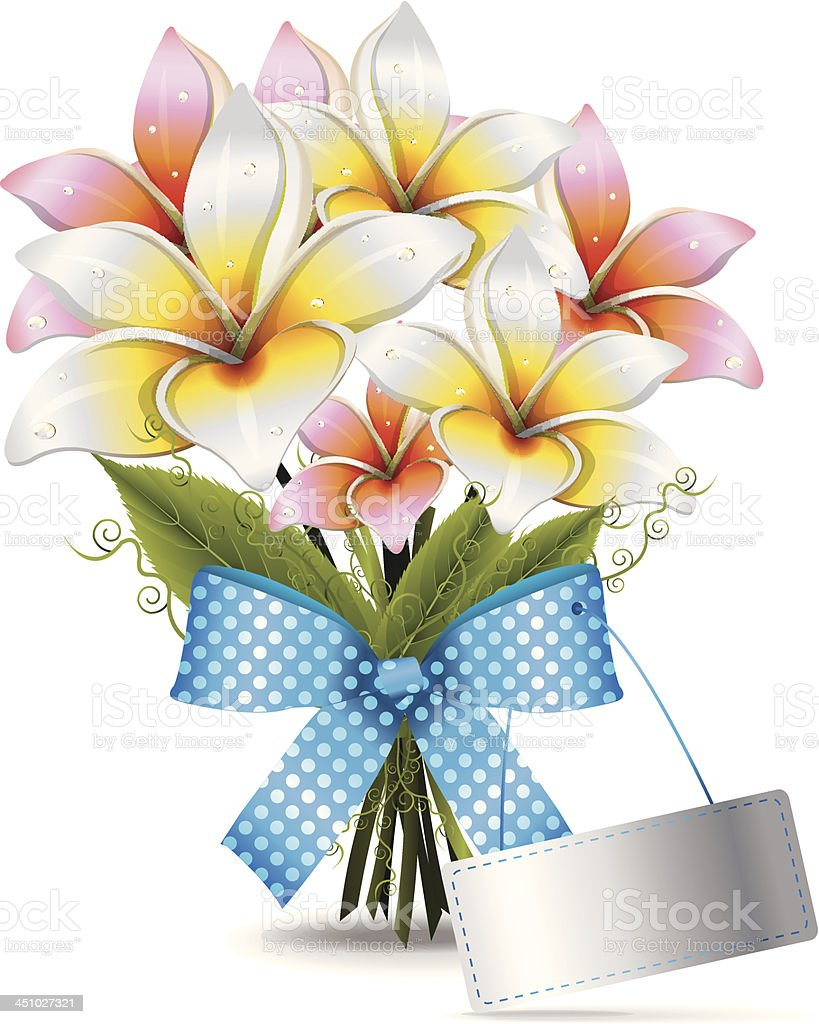 Bouquet Lilies royalty-free stock vector art
