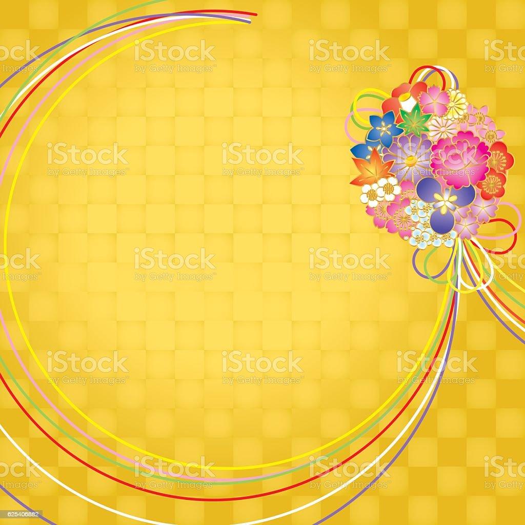 Bouquet. Pattern of Japan. vector art illustration