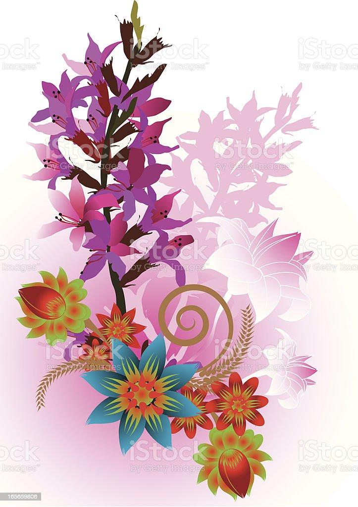 bouquet royalty-free stock vector art