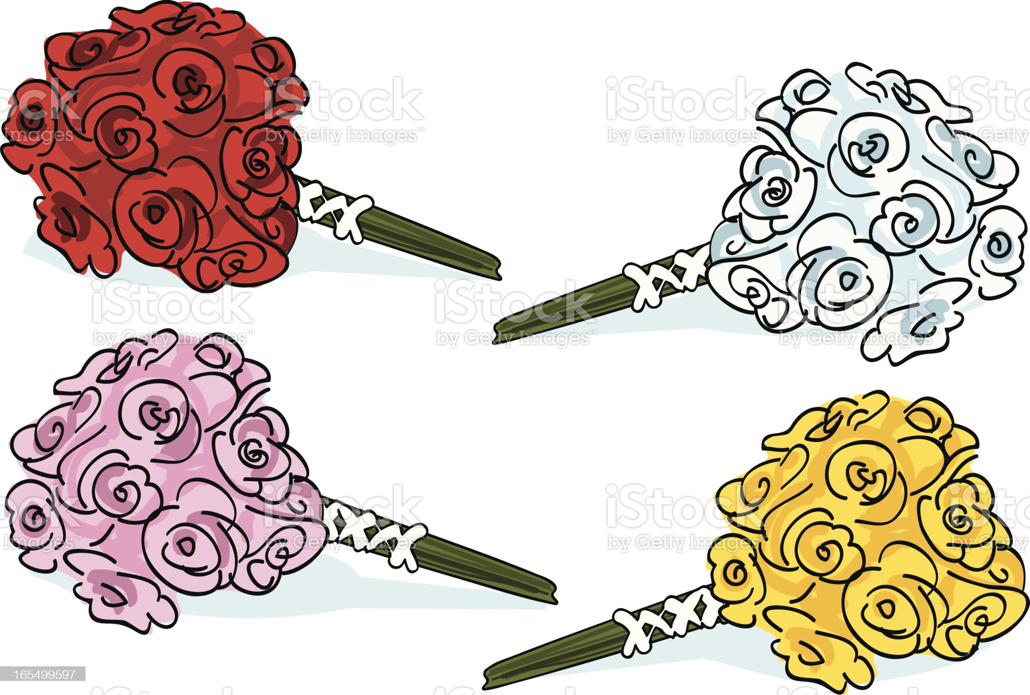 bouquets royalty-free stock vector art