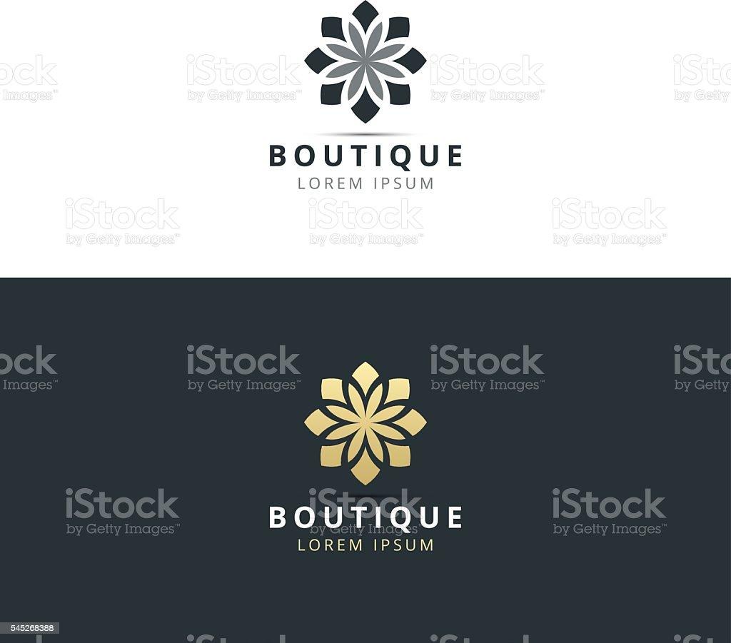 boutique logo design vector vector art illustration