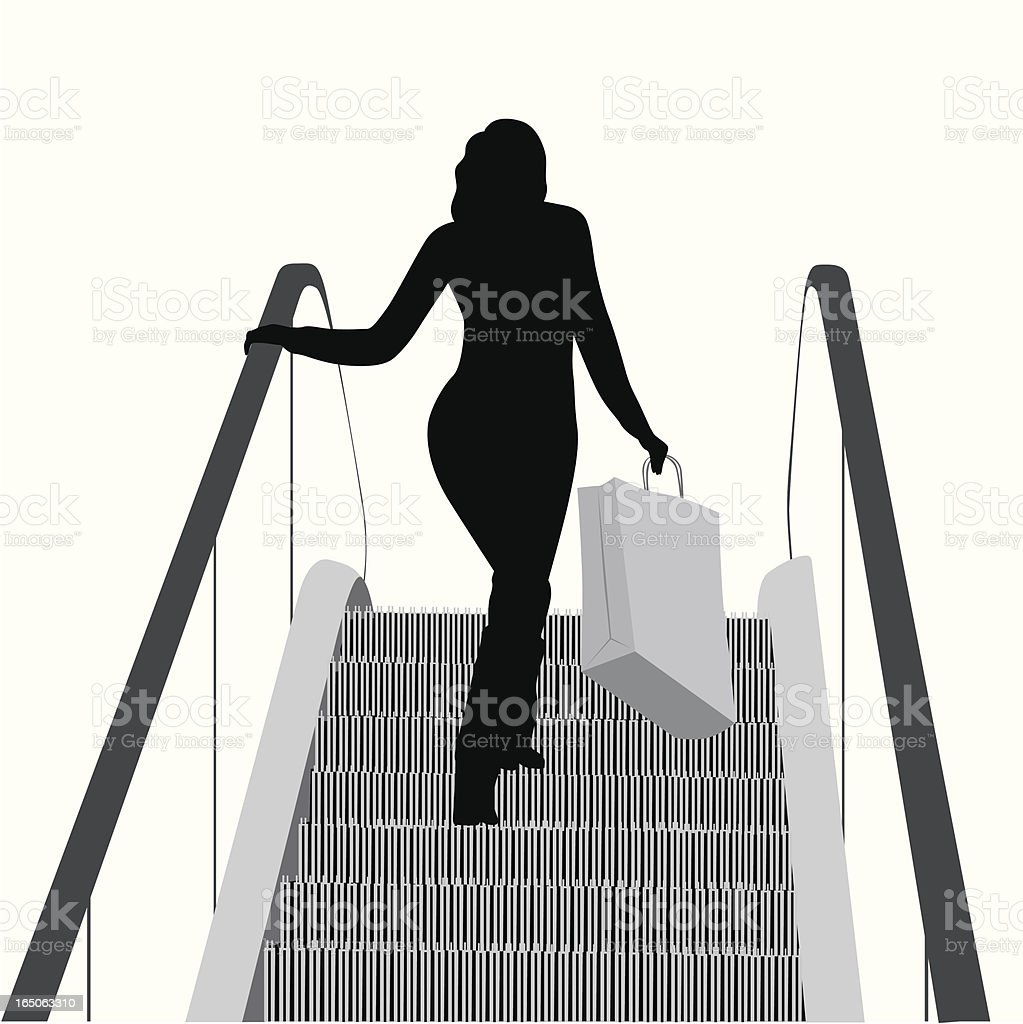 Boutique-ing Vector Silhouette royalty-free stock vector art