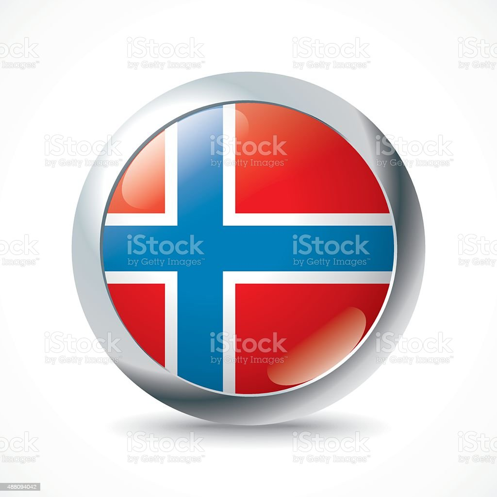Bouvet Island flag button vector art illustration