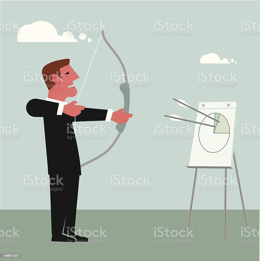 Bow and arrow chart royalty-free stock vector art