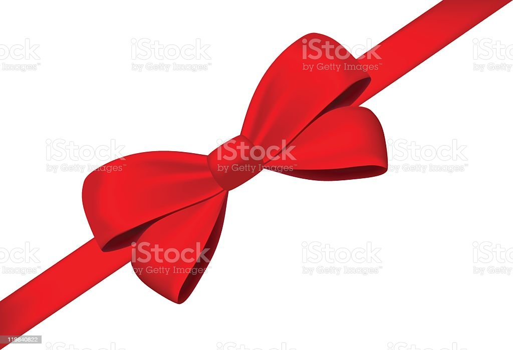 Bow and tape vector art illustration