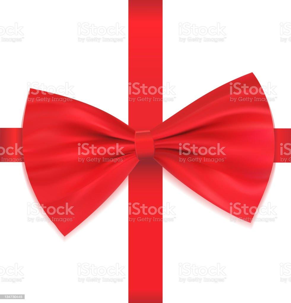 Bow on ribbon royalty-free stock vector art