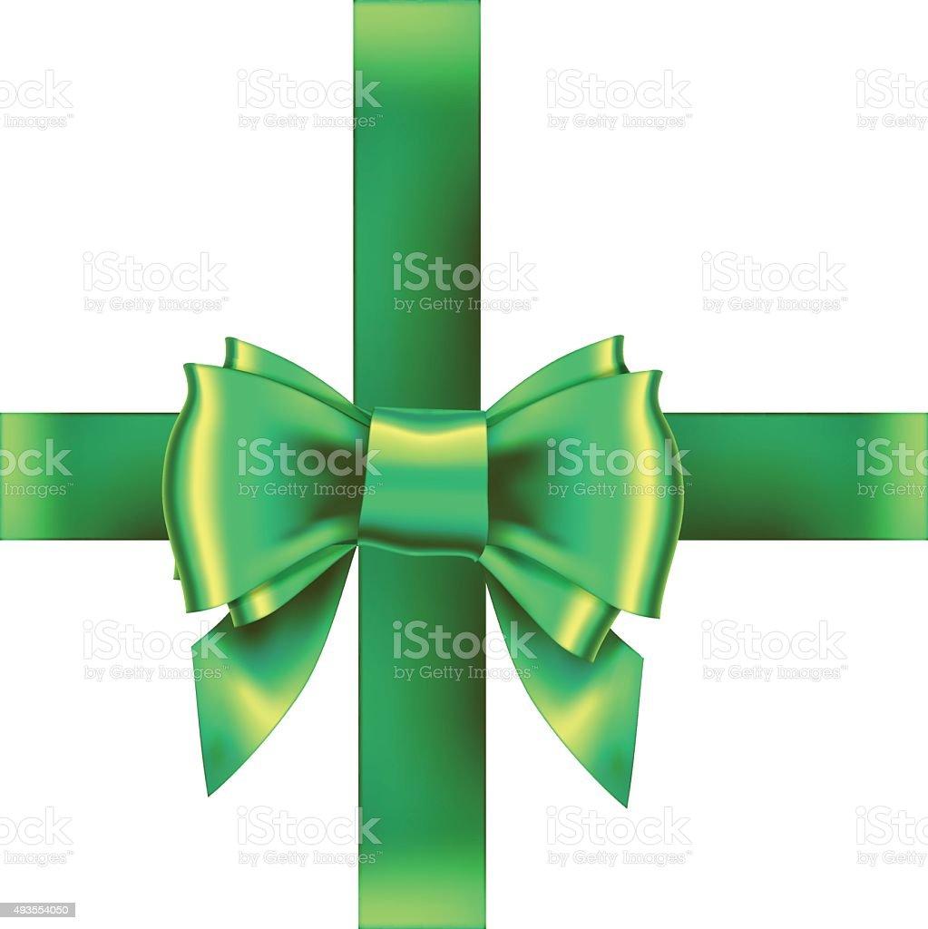 bow ribbon gift vector vector art illustration