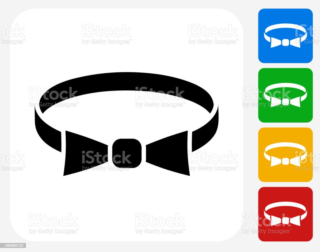 Bow Tie Icon Flat Graphic Design vector art illustration