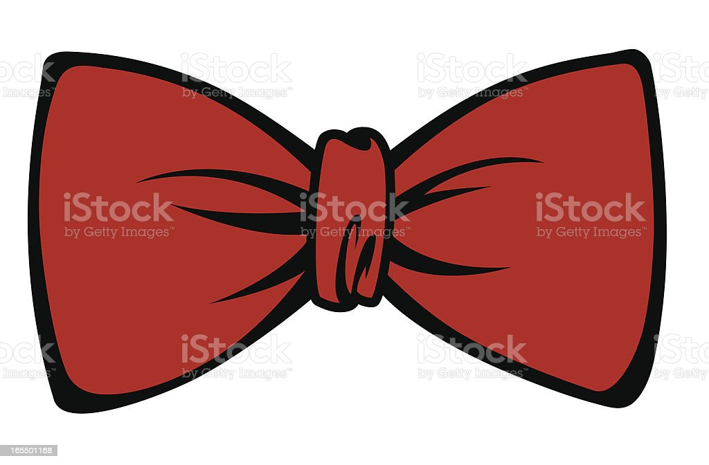 bow tie vector art illustration