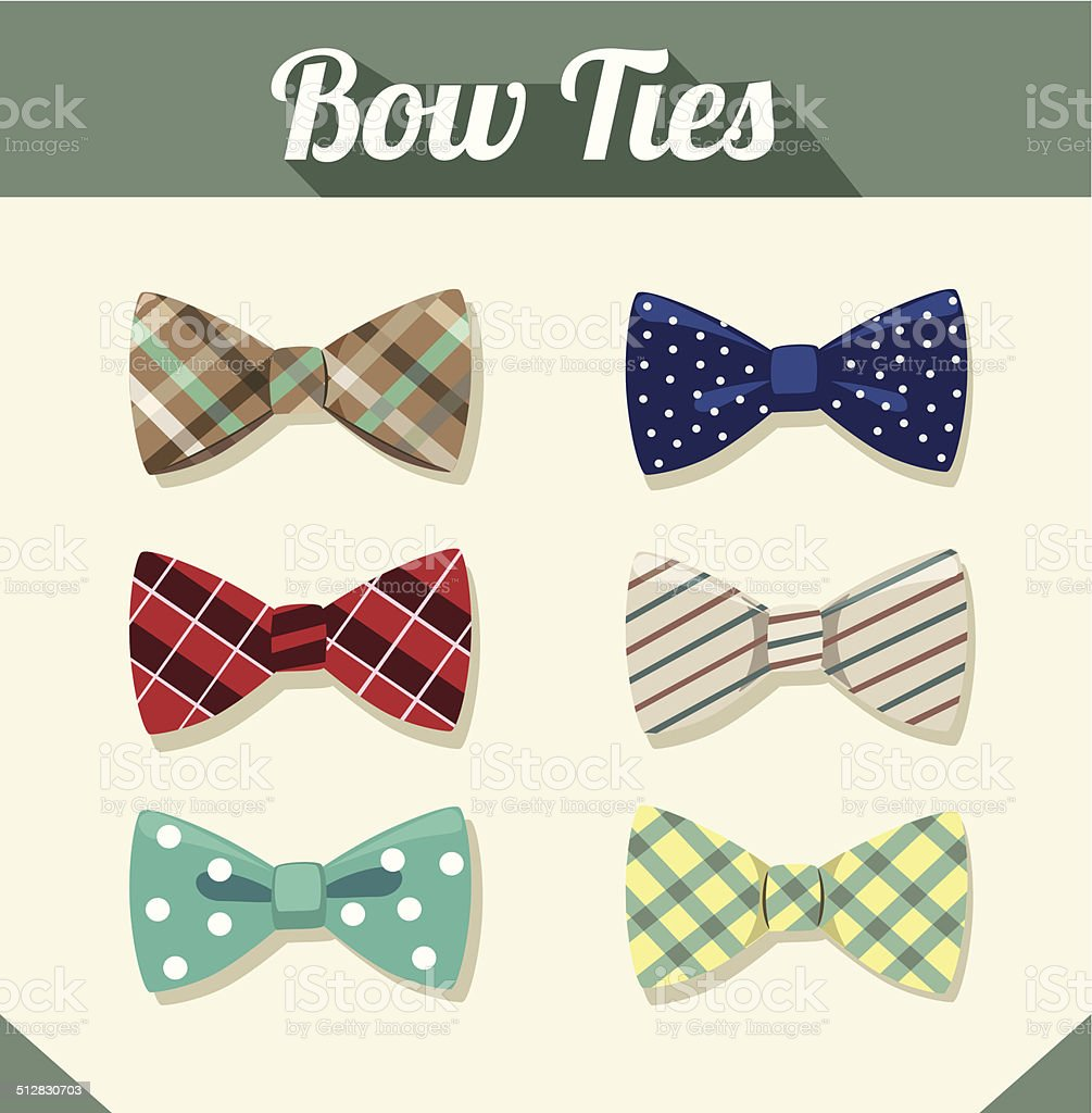 Bow Ties vector art illustration