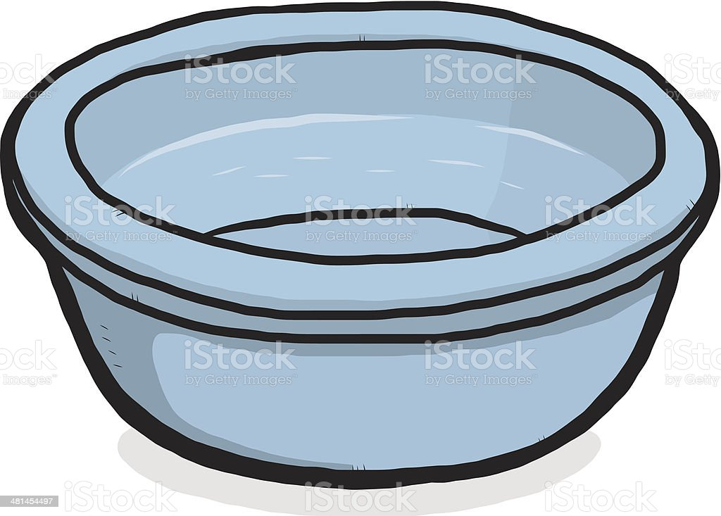bowl and water vector art illustration