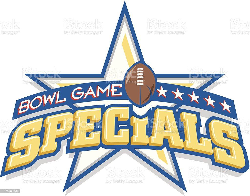 Bowl Game Heading C vector art illustration
