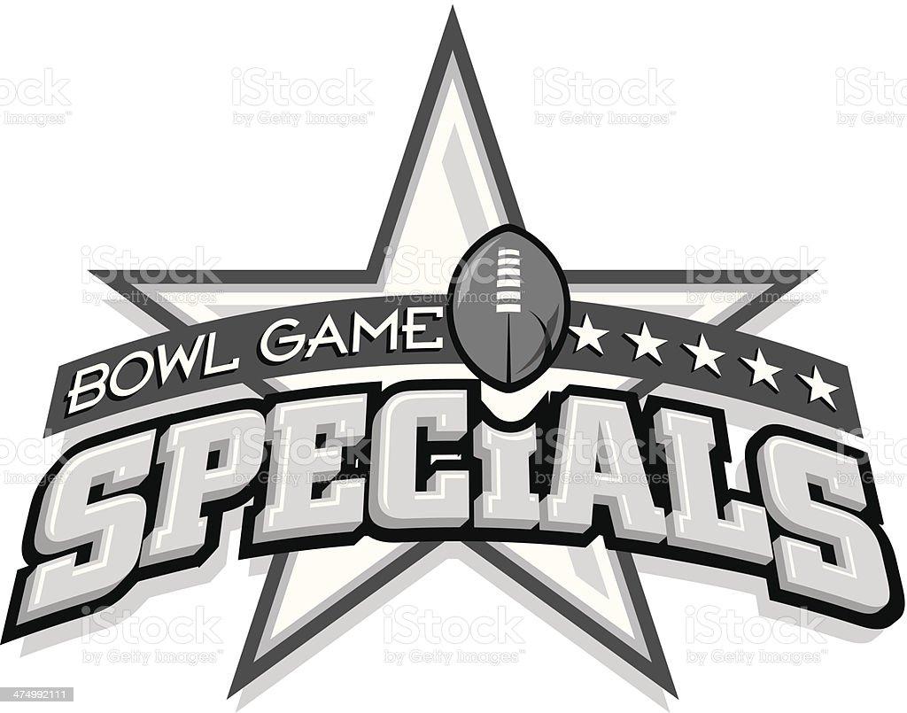 Bowl Game Heading vector art illustration