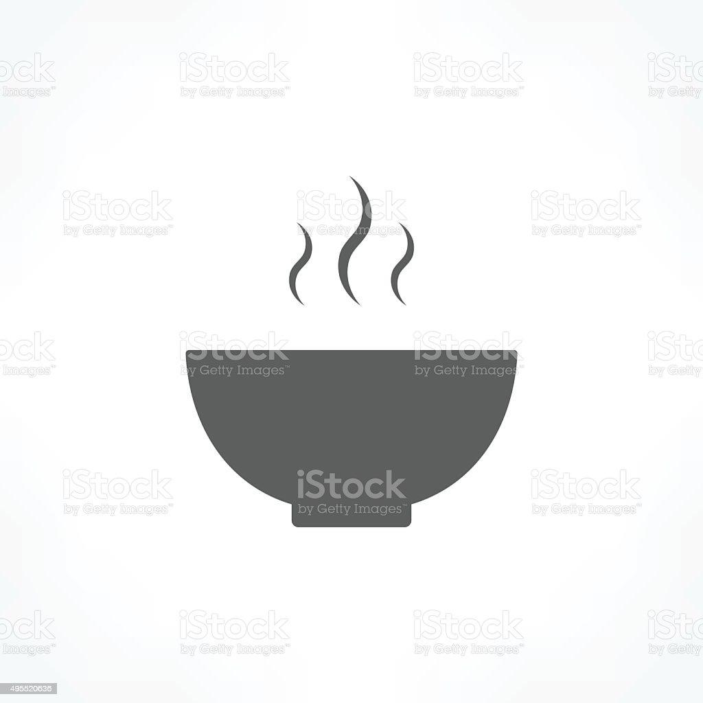 bowl icon vector art illustration