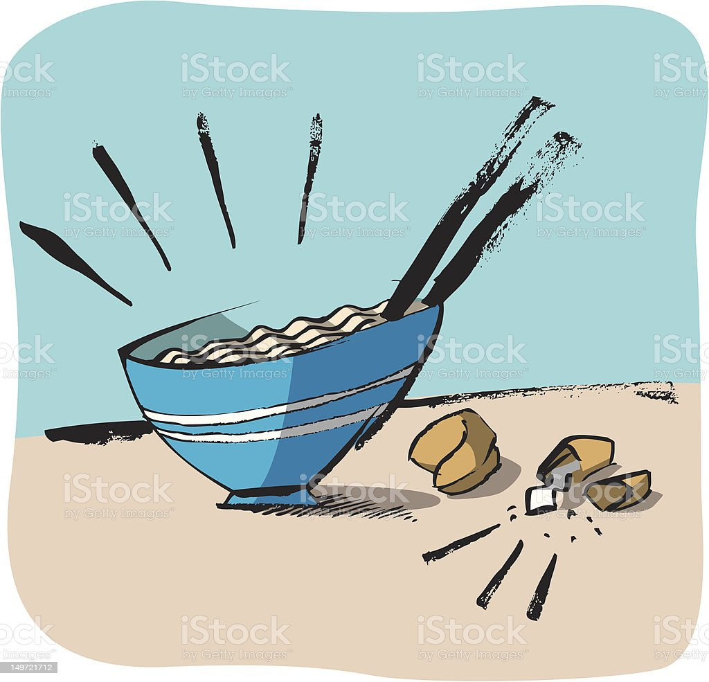 Bowl o' Noodles royalty-free stock vector art